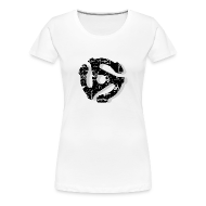 T-Shirts ~ Women's Premium T-Shirt ~ Record Adaptor T-Shirt (Women) Vintage Shadow