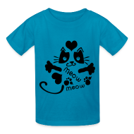 Kids' Shirts ~ Kids' T-Shirt ~ meow meow cat Kids' T-Shirt