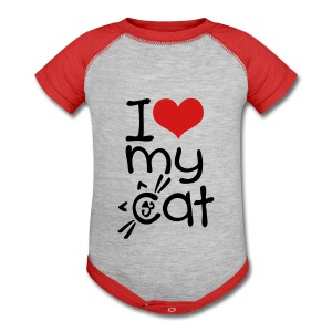 I love my cat Baby Contrast One Piece - Baby Contrast One Piece