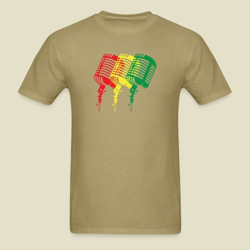 Reggae microphones - Men's T-Shirt