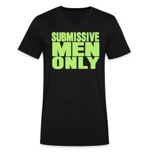 SUBMISSIVE MEN ONLY - Men's V-Neck T-Shirt by Canvas