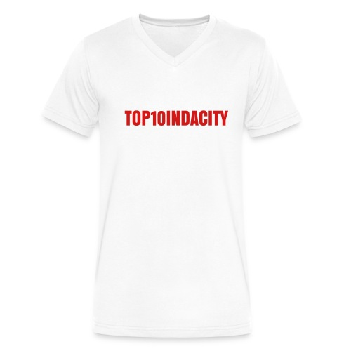 MEN'S TOP10INDACITY T-SHIRT - Men's V-Neck T-Shirt by Canvas