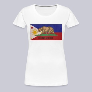 Filipino Republic California Flag - Women's Premium T-Shirt