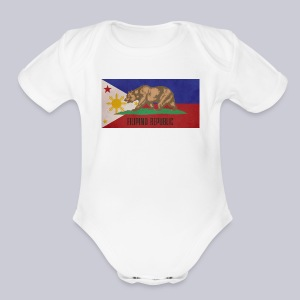 Filipino Republic California Flag - Short Sleeve Baby Bodysuit