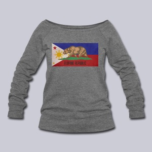 Filipino Republic California Flag - Women's Wideneck Sweatshirt