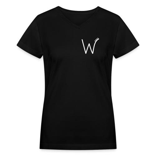 Wyntr Logo T - Women's V-Neck T-Shirt