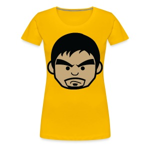 Angry Manny Pacquiao Face Womens Tee Shirt by AiReal Apparel - Women's Premium T-Shirt