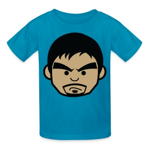 Angry Manny Pacquiao Face Kids Tee Shirt by AiReal Apparel - Kids' T-Shirt
