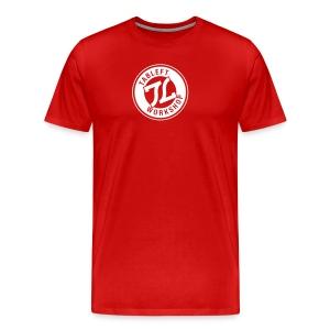 Mens White Ring Stamp Logo - Men's Premium T-Shirt