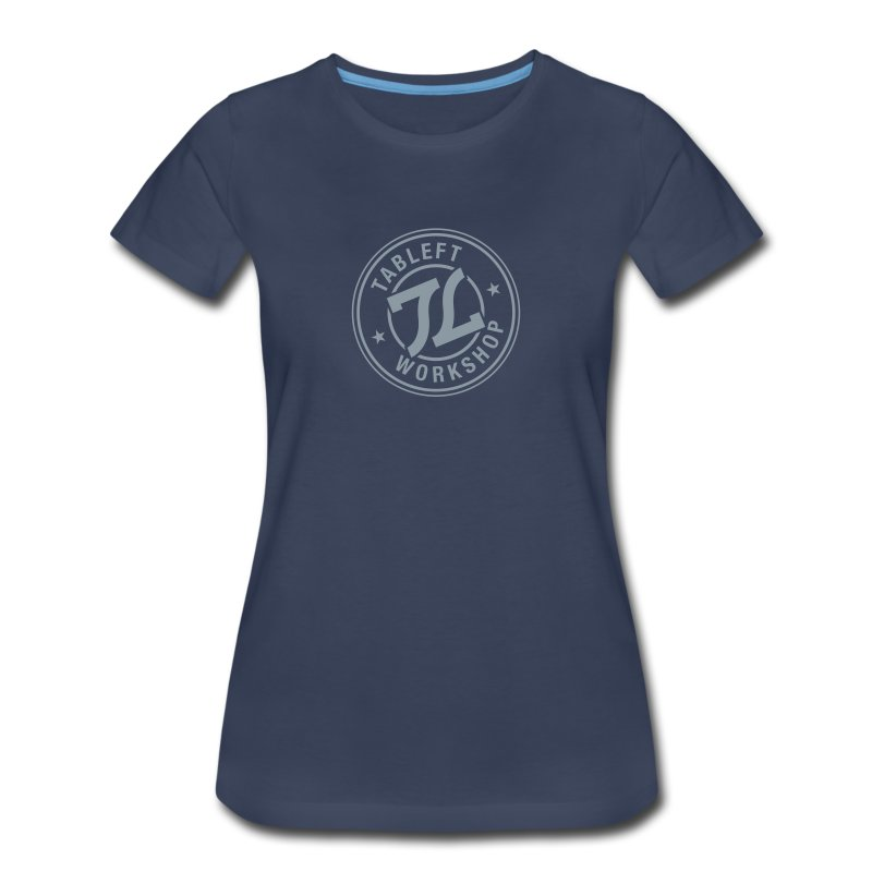 Womens Silver Stamp Logo - Women's Premium T-Shirt