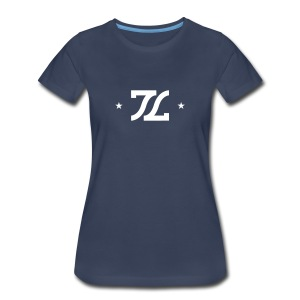 Womens White Stamp Logo - Women's Premium T-Shirt