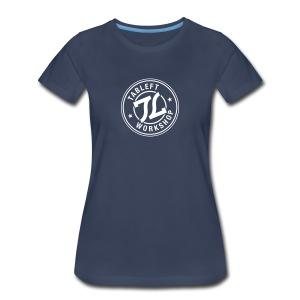 Womens White Stamp Logo - Women's Premium T-Shirt