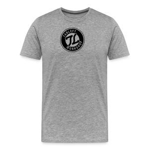 Mens Black Ring Stamp Logo - Men's Premium T-Shirt