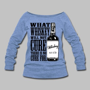 Whiskey Cure Irish - Women's Wideneck Sweatshirt