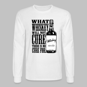 Whiskey Cure Irish - Men's Long Sleeve T-Shirt