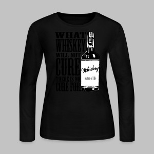 Whiskey Cure Irish - Women's Long Sleeve Jersey T-Shirt