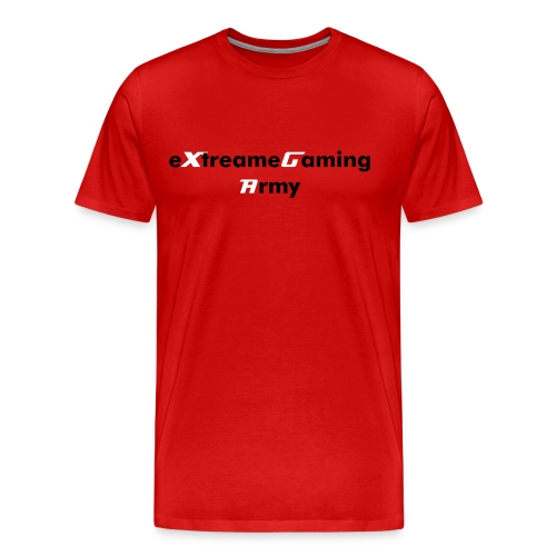 eXtreameGaming Army (Red Men's T-Shirt)   - Men's Premium T-Shirt
