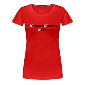 eXtreameGaming Army (Red Woman's T-Shirt)   - Women's Premium T-Shirt