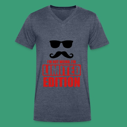 Men's V-Neck T-Shirt by Canvas - weird awesome cool glasses mustache limitededition