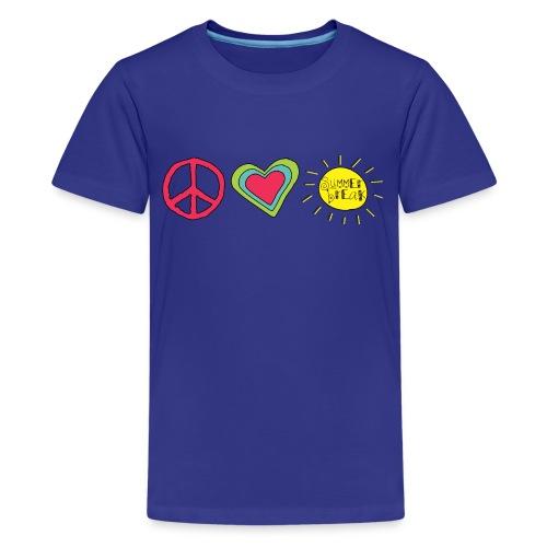 Peace, Love, Summer Break   Cool Shirts for Kids - Kids' Premium T-Shirt