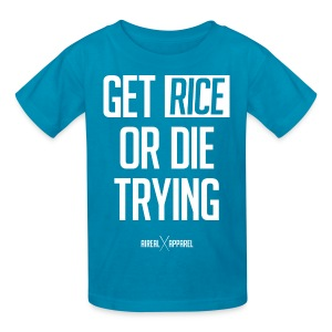 Get Rice or Die Trying Kids Tee Shirt by AiReal Apparel - Kids' T-Shirt