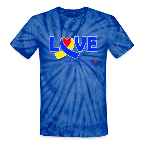 Love Doesn't Count Chromosomes - Unisex Tie Dye T-Shirt