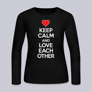 Keep Calm and Love Each Other - Women's Long Sleeve Jersey T-Shirt