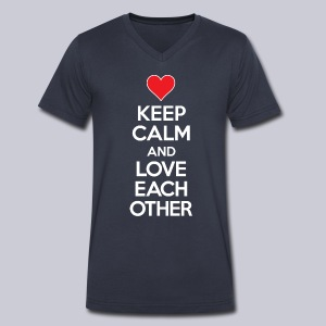 Keep Calm and Love Each Other - Men's V-Neck T-Shirt by Canvas