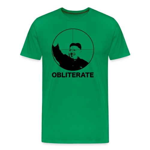 Kim Jong Obliterate - Men's Premium T-Shirt