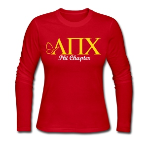 LPC - New Logo with Chapter and Hermana Name on the Back - Long Sleeve Tshirt - Women's Long Sleeve Jersey T-Shirt