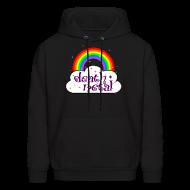 Hoodies ~ Men's Hooded Sweatshirt ~ death metal rainbow and cloud stars cute funny