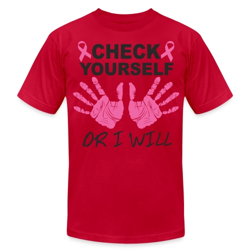 check yourself or i will - Men's  Jersey T-Shirt