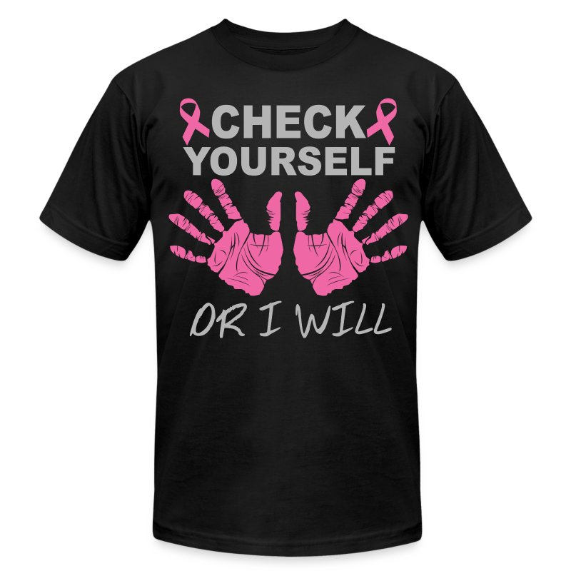 check yourself or i will - Men's Fine Jersey T-Shirt