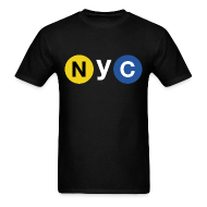 T-Shirts ~ Men's T-Shirt ~ NYC Subway