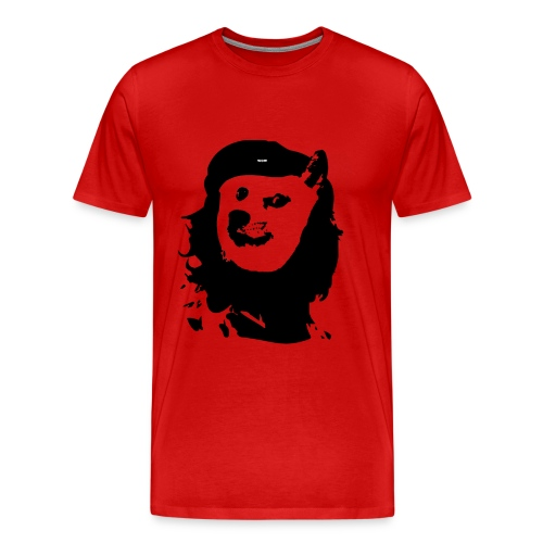 Men's Premium T-Shirt - Che Guevara Inspired Doge Wow Such Revolution T-shirt.