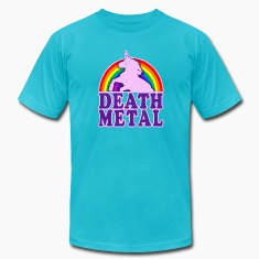 Funny Death Metal Rainbow Unicorn (vintage look)