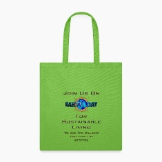 Earth Day Sustainable Living Tote Bag