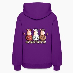 Funny Colourful Cows Hoodies
