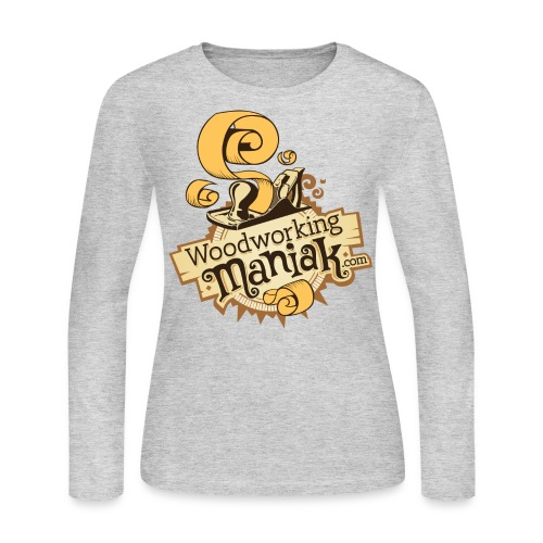 WoodworkingManiak_logo-1-LARGE.png - Women's Long Sleeve Jersey T-Shirt