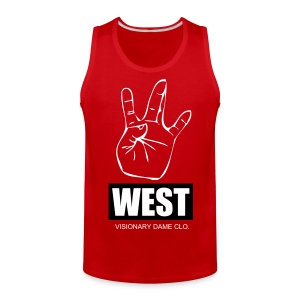 Visionary Dame Clo. Red 'West' Tank - Men's Premium Tank