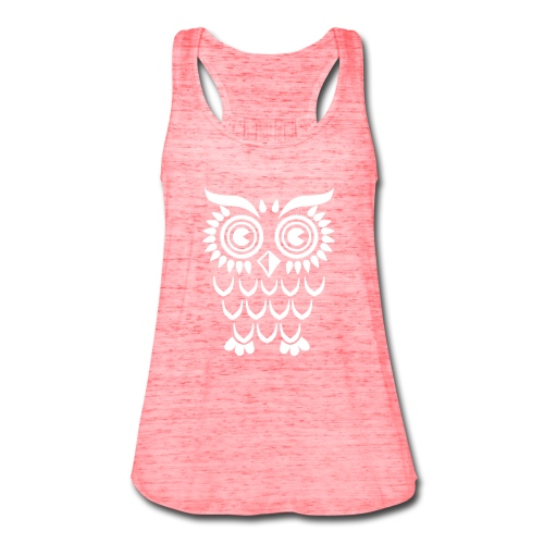 Simple Owl-white - Women's Flowy Tank Top by Bella