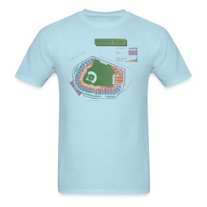 Fenway Seating Chart - Men's T-Shirt