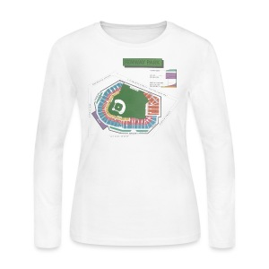 Fenway Seating Chart - Women's Long Sleeve Jersey T-Shirt