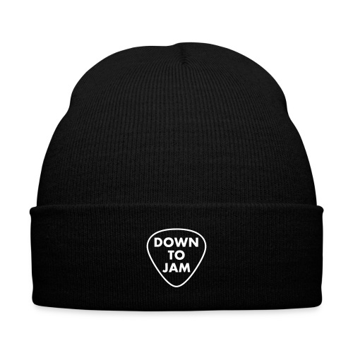 DownToJam - Knitted Toque - Knit Cap with Cuff Print