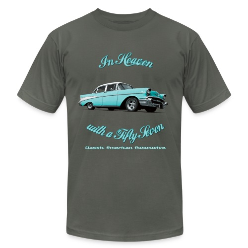 Mens T-shirt by American Apparel | Blue 57 Chevy | Classic American Automotive - Men's Fine Jersey T-Shirt