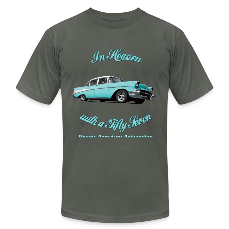 Mens T-shirt by American Apparel | Blue 57 Chevy | Classic American Automotive - Men's T-Shirt by American Apparel