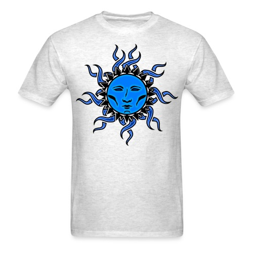 Sublime Blue Moon Vibrant Tribal Design 2 - Men's T-Shirt