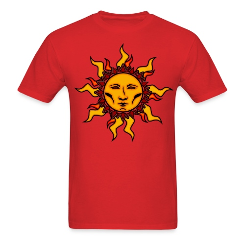 Sublime Sun #2 Vibrant Tribal Psychedelic Character Design - Men's T-Shirt