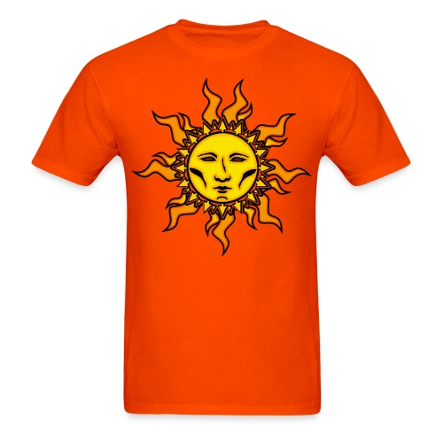 Sublime Sun Vibrant Tribal Psychedelic Character Design - Men's T-Shirt