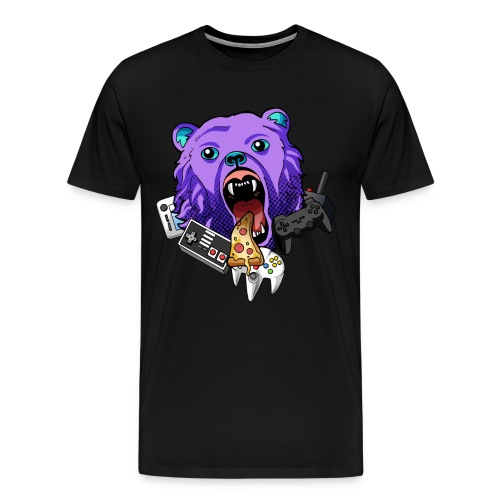 Pizza & Video Games - Men's Premium T-Shirt